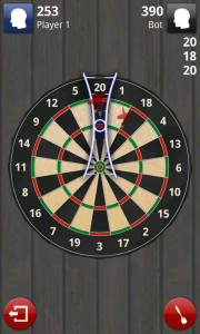 Darts 3D - Scores are displayed at the top
