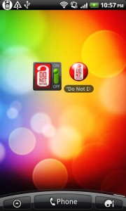 Do Not Disturb Widgets