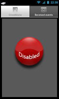 DroidAlone - Disabled screen