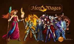 Hero Mages - Splash page