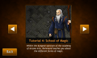 Hero Mages - Tutorial level select