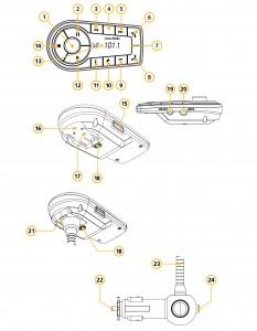 Livio Radio Kit Button Features Diagram