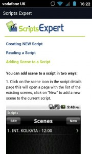 Scripts Expert - In-help view