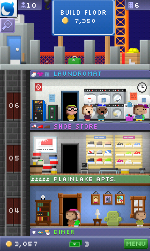 Tiny Tower, an 8bit Retro Tycoon Builder Game, Totally Addictive!
