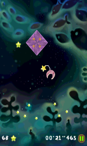 A Moon For The Sky - These purple diamond shapes push you away