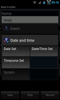 Actions - Date and Time setting