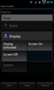 Actions - Display setting
