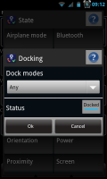 Actions - Docking conditions