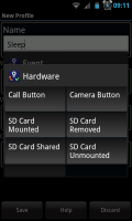 Actions - Hardware conditions