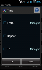 Actions - Time settings