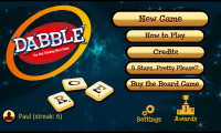 Dabble - Menu