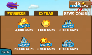 Frisbee - Buy more star coins