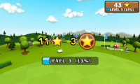 Frisbee - End of level screen