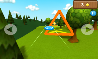 Frisbee - Fly through trianges to complete course