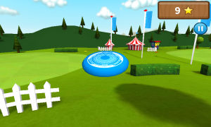 Frisbee - Opt for onscreen or tilt control