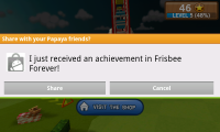 Frisbee - Share achievments