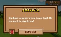 Frisbee - Unlock bonus levels