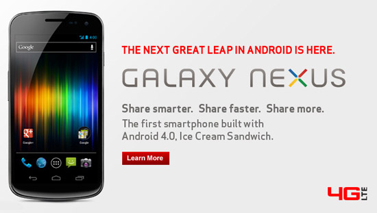 Galaxy Nexus Finally Available in US, for Verizon