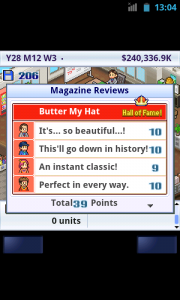 Game Dev Story - Reviews!