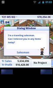 Game Dev Story - Salesman