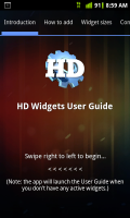 HD Widgets Quick Start Tutorial