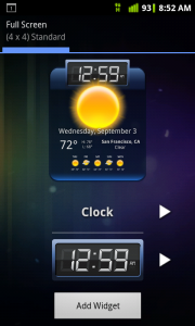 HD Widgets Select Clock