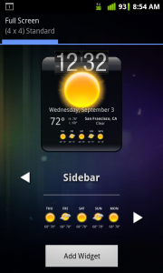 HD Widgets Select Sidebar 5 Day Forecast