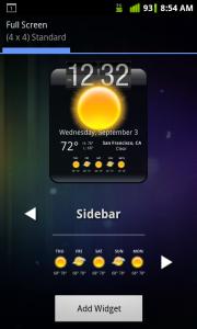 HD Widgets Select Sidebar 5 Day Forecast