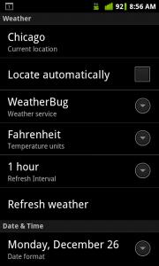 HD Widgets Settings