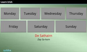Learn Irish Premium - Days
