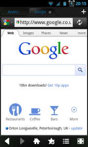Maxthon Browser - Google view
