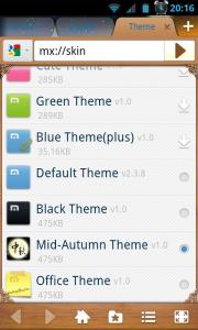 Maxthon Browser - Mid-autumn theme