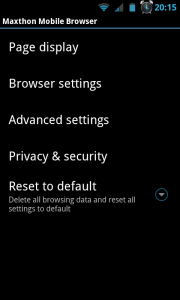 Maxthon Browser - Settings