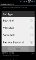 My Beach HD - Ball type settings