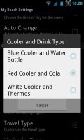 My Beach HD - Cooler and drink type