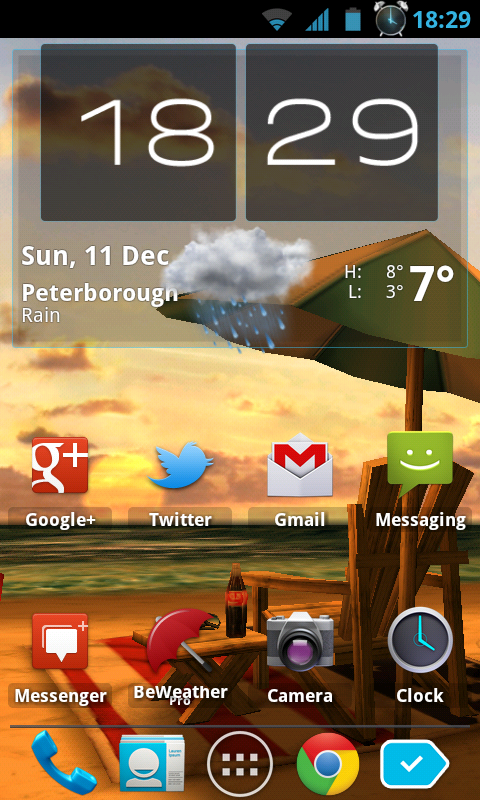 My Beach HD a Gorgeously Warming Live Wallpaper for Android