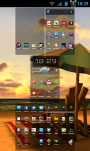 My Beach HD - Pinch out homescreens