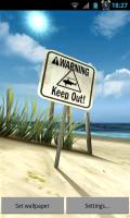 My Beach HD - Shark theme sign