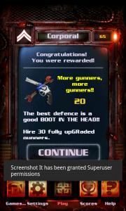 Night of The Living Dead Defense - Rewards
