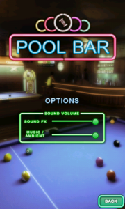 Pool Bar HD - Options