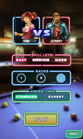Pool Bar HD - Pre-game screen