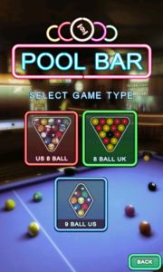 Pool Bar HD - Select game type
