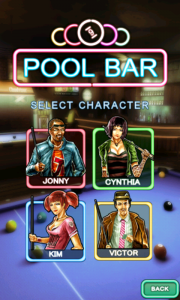 Pool Bar HD - Select your character