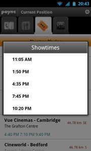 Poynt - Cinema showtimes
