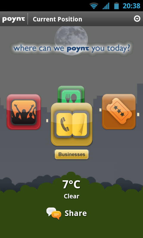 "Poynt App for Android, ""It's like a veritable Swiss-Army-Knife of local information"""