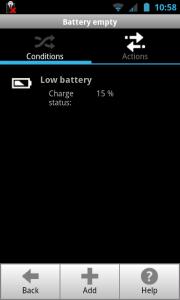 ProfileComfort - Battery level profile settings