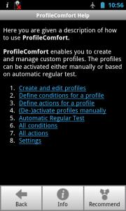 ProfileComfort - Help
