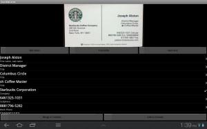 ScanBizCards Card Info