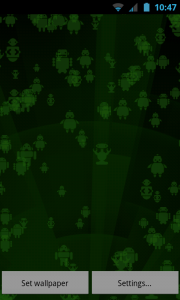 Snowflakes Live Wallpaper - Androids!