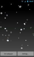 Snowflakes Live Wallpaper - Sleek